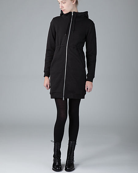 Blk zip coat closed FZ
